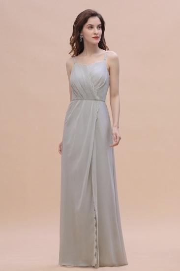 BMbridal Chic Spaghetti Straps Chiffon Lace A-Line Bridesmaid Dress On Sale_6