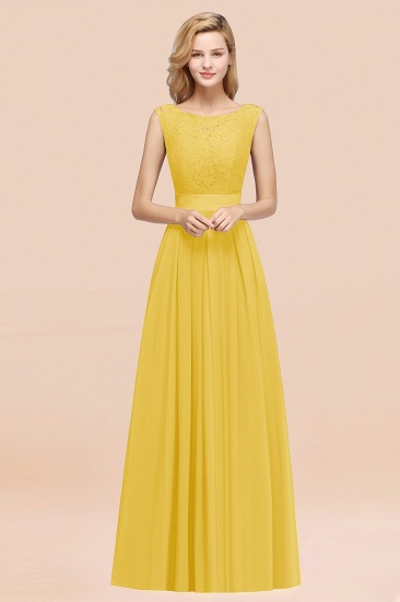 Vintage Sleeveless Lace Bridesmaid Dresses Affordable Chiffon Wedding Party Dress Online_17