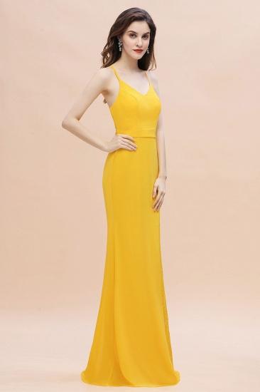 BMbridal Gorgeous Spaghett Straps V-Neck Chiffon Lace Bridesmaid Dress Online_7