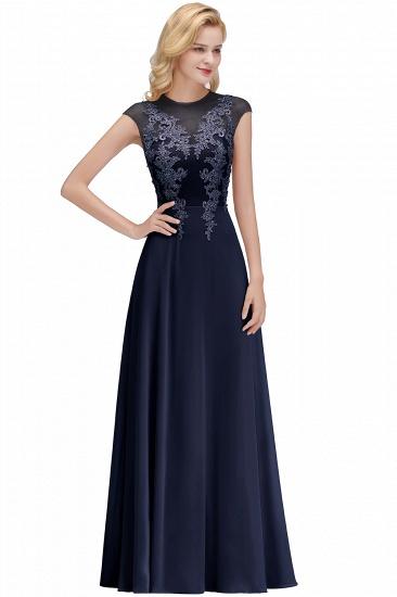 BMbridal A-line Jewel Sleeveless Chiffon Tulle Lace Bridesmaid Dress_3