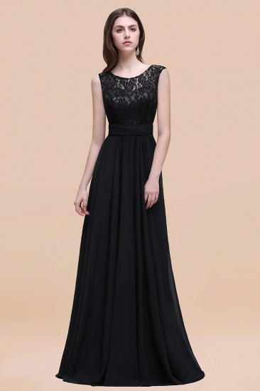 BMbridal Vintage Lace Scoop Sleeveless Dark Blue Bridesmaid Dress with V-Back_29