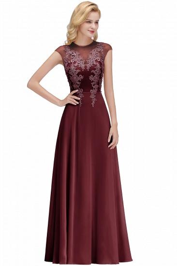 BMbridal A-line Jewel Sleeveless Chiffon Tulle Lace Bridesmaid Dress_2