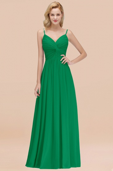 BMbridal Chic V-Neck Pleated Backless Bridesmaid Dresses with Spaghetti Straps_49