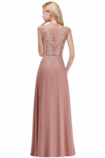 BMbridal A-line Jewel Sleeveless Chiffon Tulle Lace Bridesmaid Dress_8