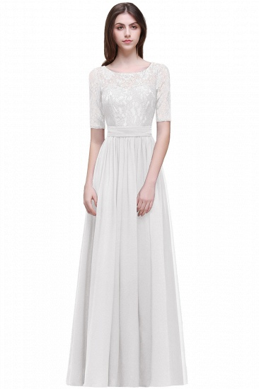 BMbridal Half-Sleeve Lace Long Chiffon Evening Dress_1