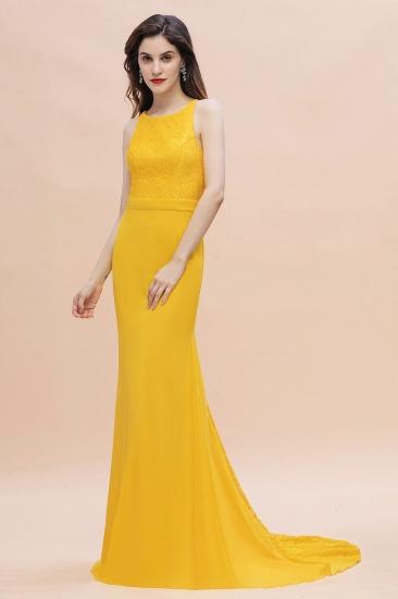 BMbridal Elegant Jewel Mermaid Chiffon Lace Bridesmaid Dress On Sale_5