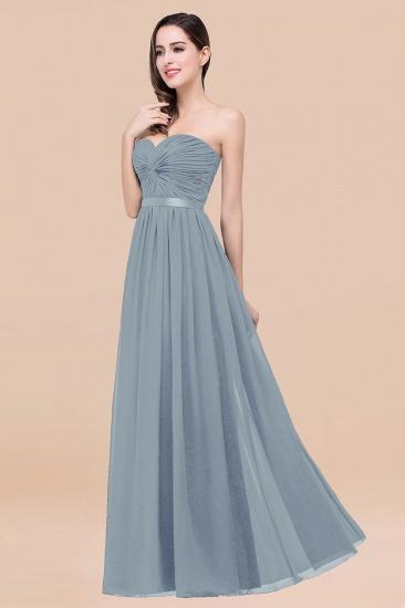 BMbridal Affordable Sweetheart Ruffle Navy Chiffon Bridesmaid Dress With Ribbon_40