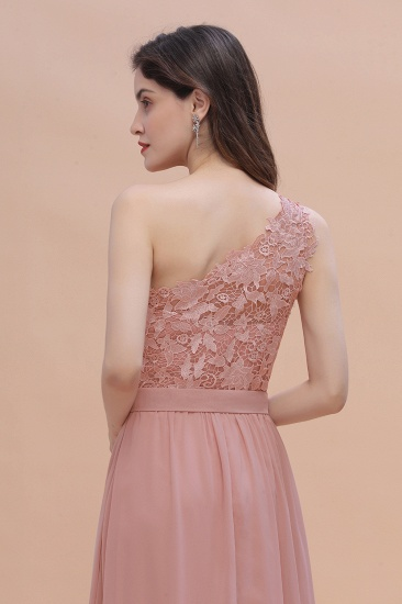 BMbridal Chic One Shoulder Chiffon Lace Vintage Mauve Bridesmaid Dress On Sale_10
