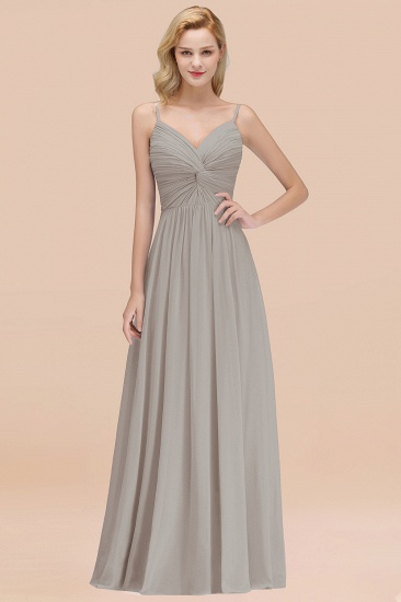 BMbridal Chic V-Neck Pleated Backless Bridesmaid Dresses with Spaghetti Straps_30
