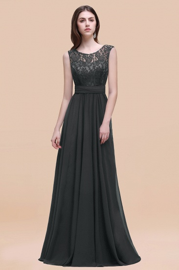 BMbridal Vintage Lace Scoop Sleeveless Dark Blue Bridesmaid Dress with V-Back_46