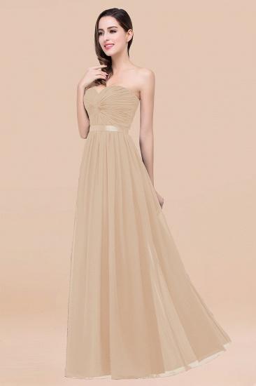 BMbridal Affordable Sweetheart Ruffle Navy Chiffon Bridesmaid Dress With Ribbon_14