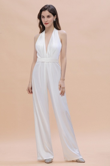 BMbridal Sexy Deep-V-Neck Halter Backless Charmeuse Bridesmaid Dress Online_7