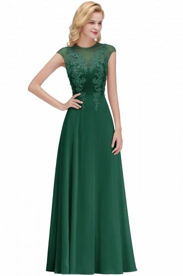 BMbridal A-line Jewel Sleeveless Chiffon Tulle Lace Bridesmaid Dress_4
