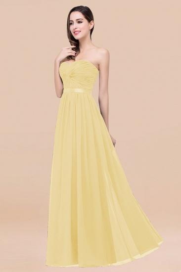 BMbridal Affordable Sweetheart Ruffle Navy Chiffon Bridesmaid Dress With Ribbon_18