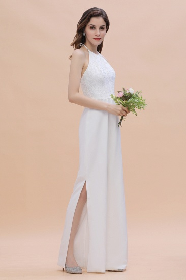 BMbridal Sexy Halter Backless Lace Bridesmaid Jumpsuit with Slits On Sale_6