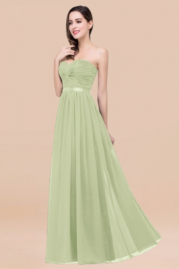 BMbridal Affordable Sweetheart Ruffle Navy Chiffon Bridesmaid Dress With Ribbon_35