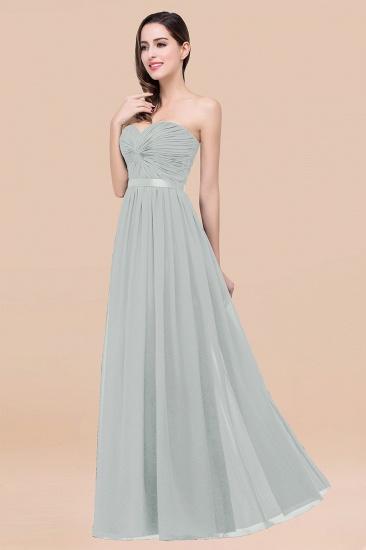 BMbridal Affordable Sweetheart Ruffle Navy Chiffon Bridesmaid Dress With Ribbon_38