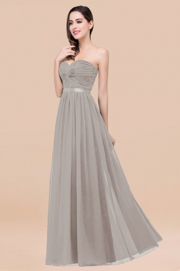 BMbridal Affordable Sweetheart Ruffle Navy Chiffon Bridesmaid Dress With Ribbon_30