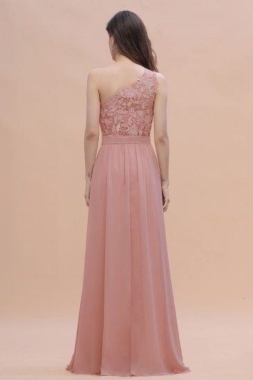 BMbridal Chic One Shoulder Chiffon Lace Vintage Mauve Bridesmaid Dress On Sale_3
