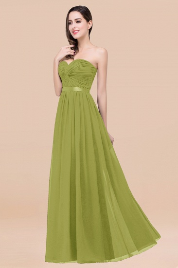 BMbridal Affordable Sweetheart Ruffle Navy Chiffon Bridesmaid Dress With Ribbon_34
