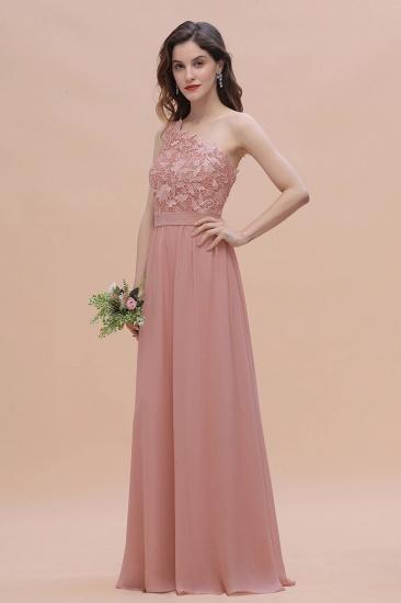 BMbridal Chic One Shoulder Chiffon Lace Vintage Mauve Bridesmaid Dress On Sale_5