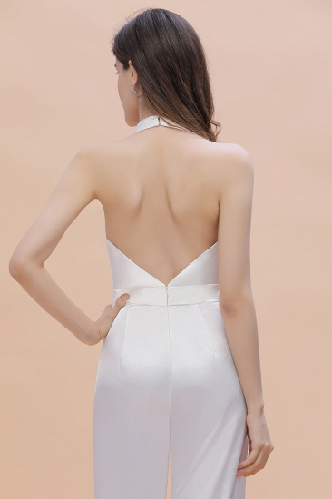 BMbridal Sexy Deep-V-Neck Halter Backless Charmeuse Bridesmaid Dress Online_9