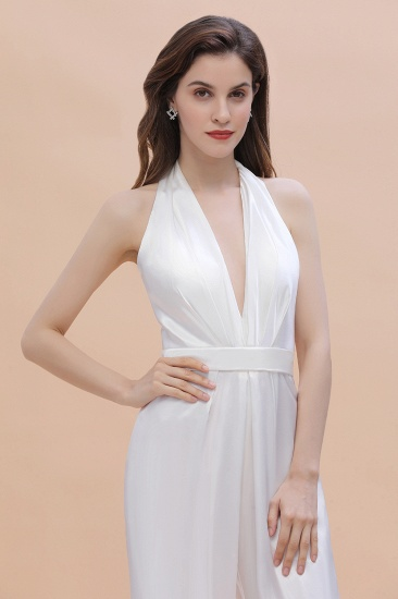 BMbridal Sexy Deep-V-Neck Halter Backless Charmeuse Bridesmaid Dress Online_8