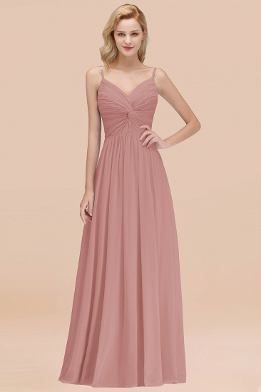 BMbridal Chic V-Neck Pleated Backless Bridesmaid Dresses with Spaghetti Straps_50