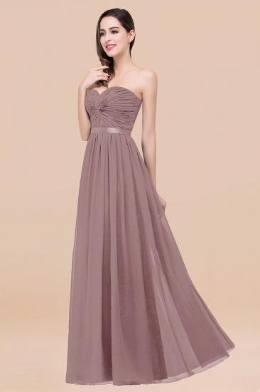 BMbridal Affordable Sweetheart Ruffle Navy Chiffon Bridesmaid Dress With Ribbon_37