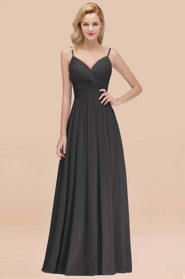 BMbridal Chic V-Neck Pleated Backless Bridesmaid Dresses with Spaghetti Straps_46