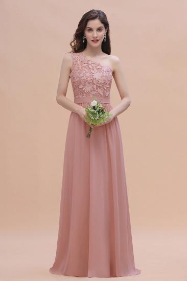 BMbridal Chic One Shoulder Chiffon Lace Vintage Mauve Bridesmaid Dress On Sale_4