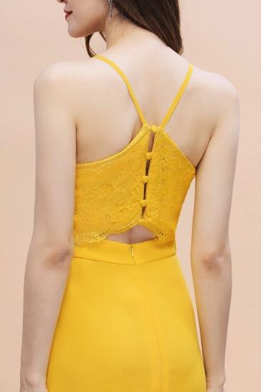 BMbridal Gorgeous Spaghett Straps V-Neck Chiffon Lace Bridesmaid Dress Online_9