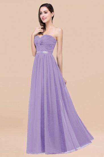 BMbridal Affordable Sweetheart Ruffle Navy Chiffon Bridesmaid Dress With Ribbon_21