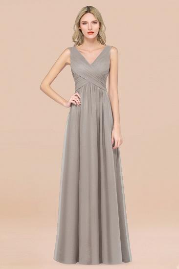 BMbridal Glamorous Chiffon V-Neck Sleeveless Burgundy Bridesmaid Dress with Draped Back_30