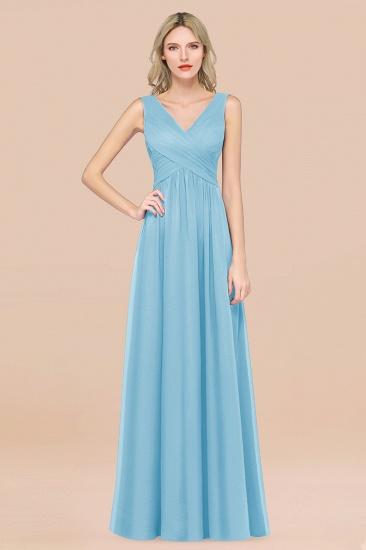 BMbridal Glamorous Chiffon V-Neck Sleeveless Burgundy Bridesmaid Dress with Draped Back_23