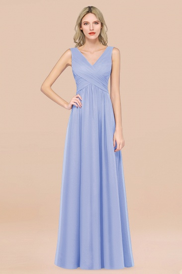 BMbridal Glamorous Chiffon V-Neck Sleeveless Burgundy Bridesmaid Dress with Draped Back_22