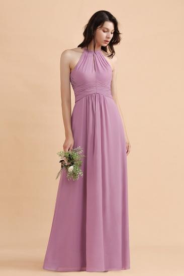 BMbridal Elegant Jewel Wisteria Chiffon Ruffles Bridesmaid Dress with Pockets On sale_6