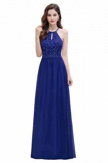 BMbridal Glamorous Halter A-line Bridesmaid Dress Chiffon Sequins Elegant Party Maxi Dress_2