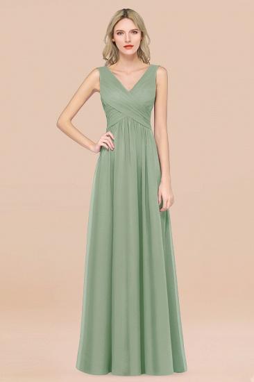 BMbridal Glamorous Chiffon V-Neck Sleeveless Burgundy Bridesmaid Dress with Draped Back_41