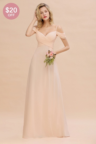 BMbridal Off-the-Shoulder Sweetheart Ruched Long Bridesmaid Dress Online_51