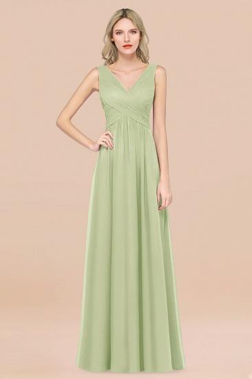 BMbridal Glamorous Chiffon V-Neck Sleeveless Burgundy Bridesmaid Dress with Draped Back_35