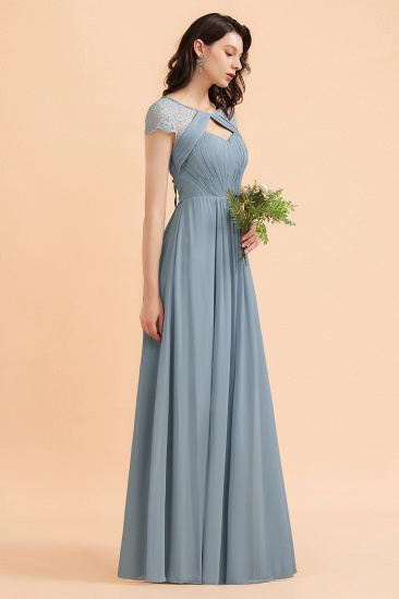 BMbridal Chic Short Sleeves Lace Chiffon Bridesmaid Dress with Ruffles Online_7