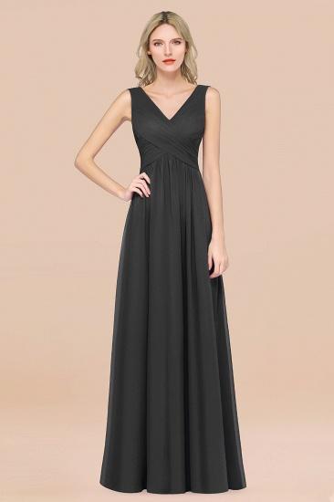 BMbridal Glamorous Chiffon V-Neck Sleeveless Burgundy Bridesmaid Dress with Draped Back_46
