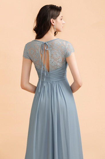BMbridal Chic Short Sleeves Lace Chiffon Bridesmaid Dress with Ruffles Online_8