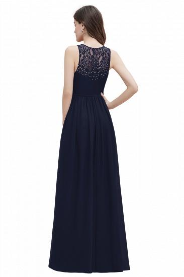 BMbridal Elegant V-Neck Lace Ruffles Bridesmaid Dress Sequins Burgundy Chiffon Evening Dress_16