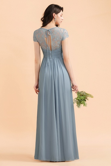 BMbridal Chic Short Sleeves Lace Chiffon Bridesmaid Dress with Ruffles Online_3