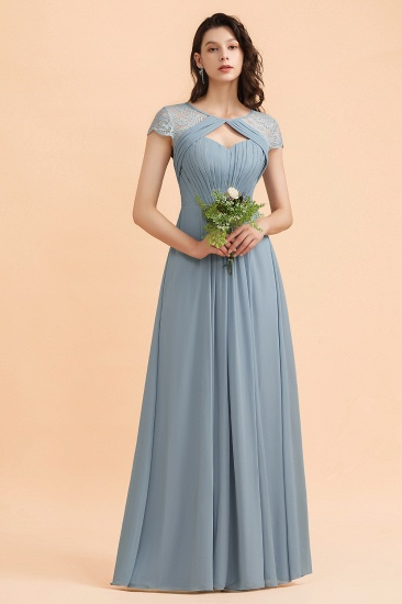 BMbridal Chic Short Sleeves Lace Chiffon Bridesmaid Dress with Ruffles Online_4