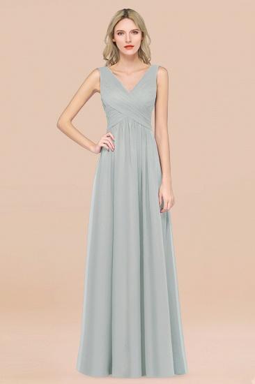 BMbridal Glamorous Chiffon V-Neck Sleeveless Burgundy Bridesmaid Dress with Draped Back_38