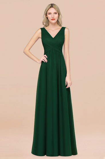 BMbridal Glamorous Chiffon V-Neck Sleeveless Burgundy Bridesmaid Dress with Draped Back_31