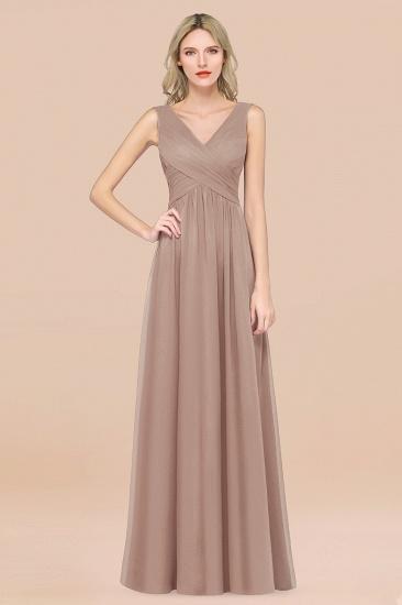 BMbridal Glamorous Chiffon V-Neck Sleeveless Burgundy Bridesmaid Dress with Draped Back_16